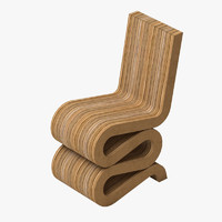 3d model wiggle chair gehry