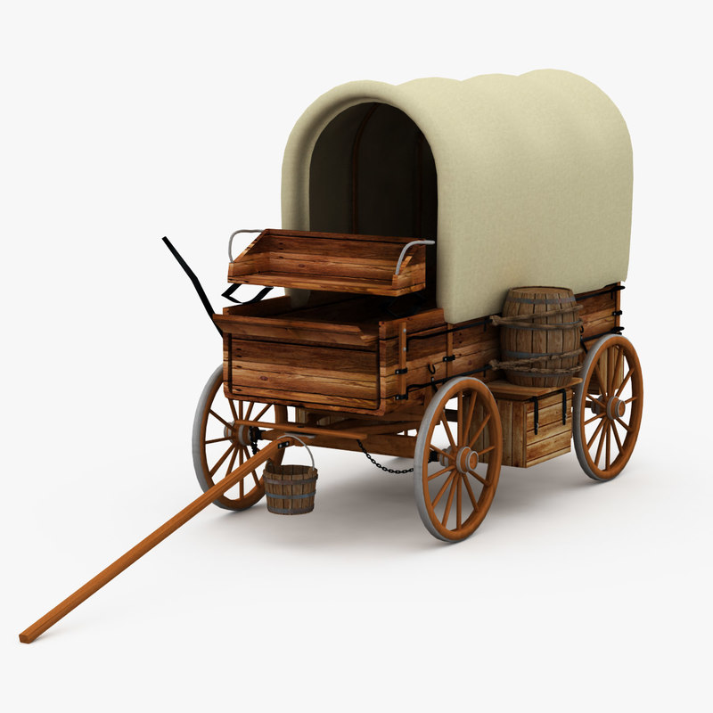 how to make a covered wagon model