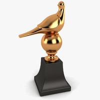 dxf bird statue