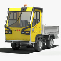 3ds max industrial electric utility vehicle