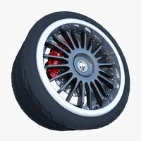 lumma racing wheel 3d max