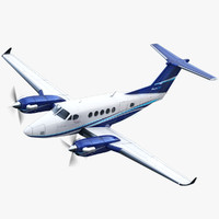 3d beechcraft king air 250 model