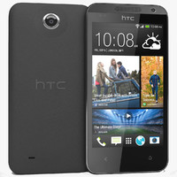 3d model htc desire 300 black