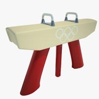 gymnastics pommel horse 3d 3ds