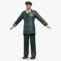 3d army officer model