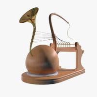 max futuristic fantasy instrument brass