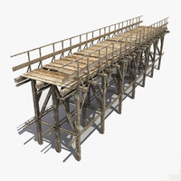 3d wooden bridge 3
