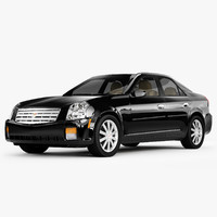 3d model cadillac cts luxury