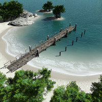 Island with Pier