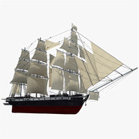 old sailing ship 3d model