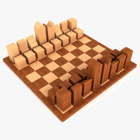chess set lanier 3d model