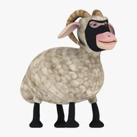 3d ninja sheep model