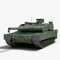 3d modern battle tank altay model