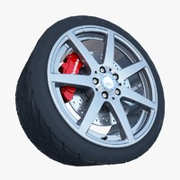 amg wheel tire 3ds