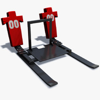 3d model football training sled