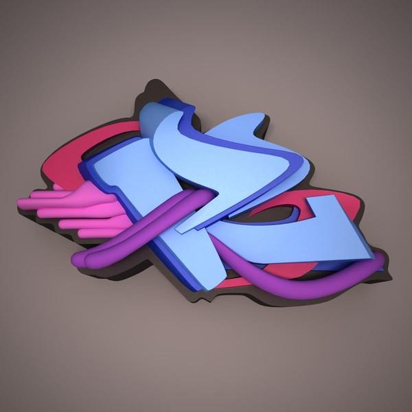 Graffiti R 3d iti r model - graffiti