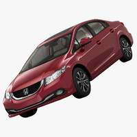 honda civic elegance sedan 3d model