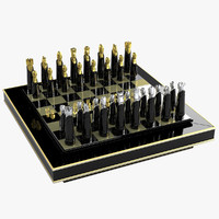 3ds max luxury chess set