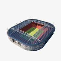 3ds max soccer arena
