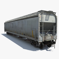 3d railway hopper car rail