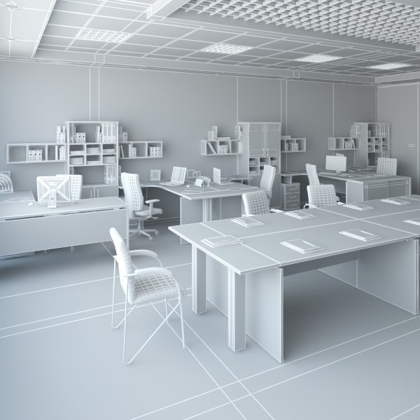 office design 3d model - Office 36... by Dragman