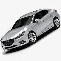 2014 Mazda 3 Sedan (Low Interior)