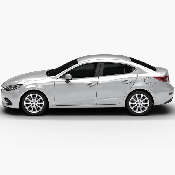2014 Mazda 3 Sedan 3d Model