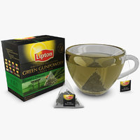 lipton green gunpowder 3d max