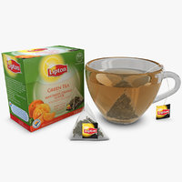 lipton green tea mandarin 3d model