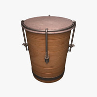 3d small drum model