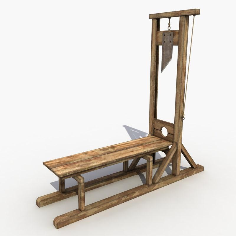 3d guillotine modeled. Black Bedroom Furniture Sets. Home Design Ideas