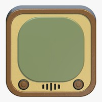 tv ios icon 3d dxf