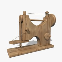 wooden sewing machine 3ds