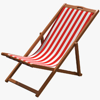 beach chair 3d obj