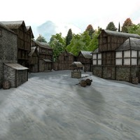 medieval snow 3d model