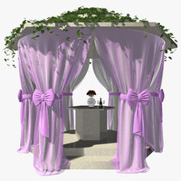 wedding gazebo obj