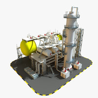 3ds max refinery station