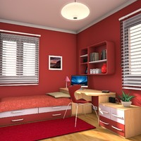 3d exquisite teen room model
