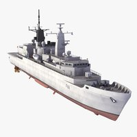 hms broadsword f88 ships 3d model