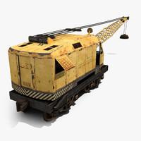 railway crane 3d 3ds