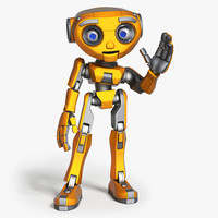 maya cartoon robot