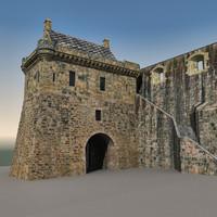 3dsmax edinburgh castle scene