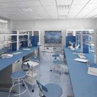 3d model interior scientific laboratory