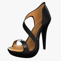 realistic women s heel shoes 3d obj