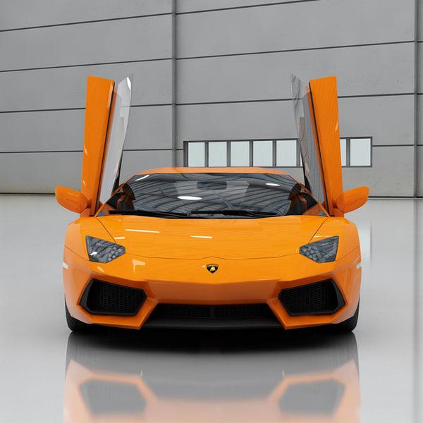 2014 Lamborghini Aventador Interior: 3d Aircraft Hangar 2 Q400 Model