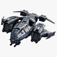3ds max sci fi dropship