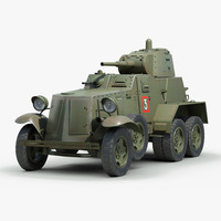 ww2 armored 3d obj