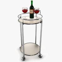 3d cosmopolitan bar cart