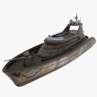 rebel boat 3d model