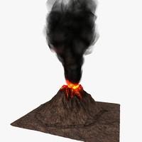 3ds max volcano
